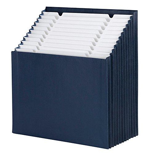 Smead Stadium File 70211 Lot de 12 pochettes pour étiquettes alphabétiques/mensuelles/quotidiennes Bleu marine