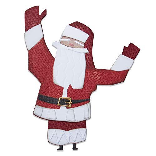 Sizzix Die 8PK Papercut Christmas Set di Fustelle Thinlits 8pz 664744 Natale di Carta #1 Colorize by Tim Holtz, Taglia unica
