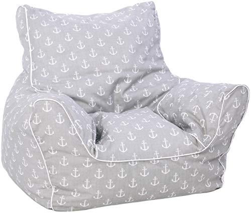 KNORRTOYS.COM 68209 Knorrtoys 68209-Kindersitzsack Kindersitzsack, Maritim Grey