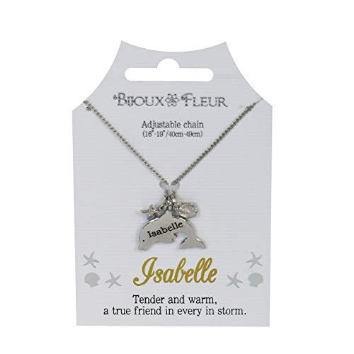 Bijoux Fleur Dolphin Necklace - 76 Names Available A-W (Isabelle)