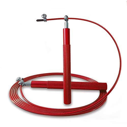 IEMY Springseil Erwachsene, Speed Rope Mit 3D-Kugellager, Verstellbares Aluminiumlegierung Seilspringen Für Fitness&Training Ausdauer, Crossfit Sport Intervalltraining Professioneller Sport (Rot)