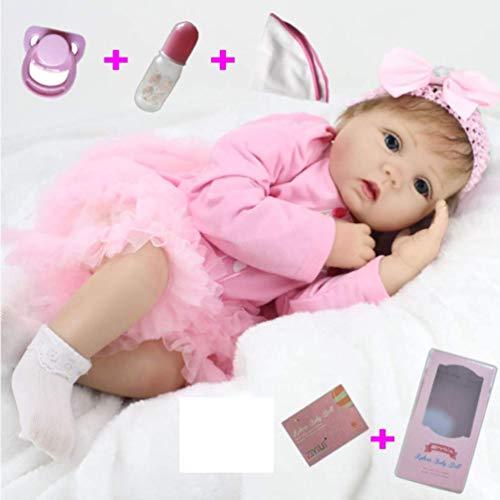 ZIYIUI 22 Pulgadas 55cm Muñecas Bebé Reborn Niña Silicona Suave Vinilo Vida Real Realista Hecho a Mano Juguetes de Niño y Niña Mejor Regalos de Cumpleanos Reborn Niña Reborn Toddler
