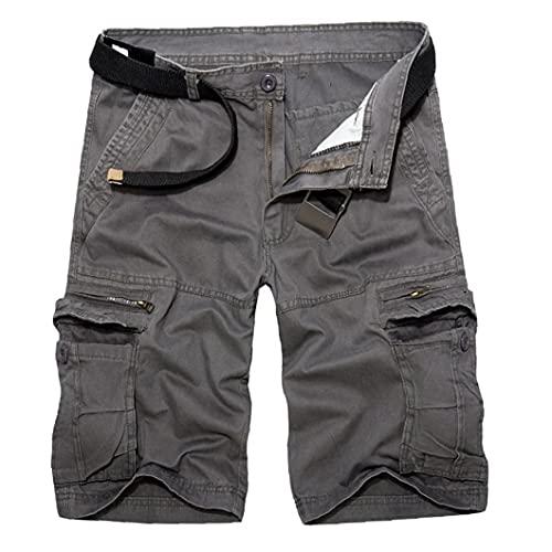 Tuimiyisou Mens Cargo Shorts Lichtgewicht Summer Casual broeken Heren bermuda met zakken