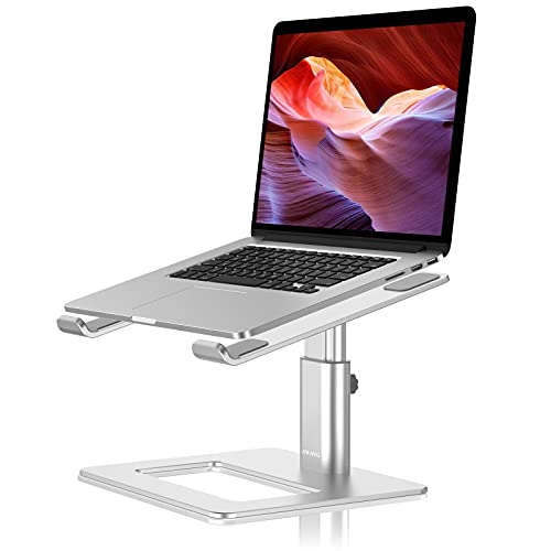 AWAVO Laptop Stand, Ergonomic Adjustable Computer Stand for Desk, Aluminum Height Holder Portable Riser Compatible with MacBook Air Pro, Dell, HP, Lenovo Samsung (More 11-17' Laptops)