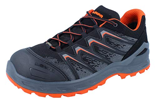 Lowa Sicherheitsschuhe LARROX Work GTX Black Lo S3, Farbe:schwarz/orange, Schuhgröße:45 (UK 10.5)