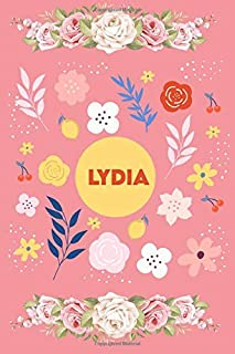 Lydia: Blank Recipe Journal to Write in for Women , Document all Your Special Recipes and Notes for Your Favorite , Food C...