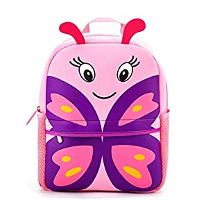 Toddler Backpack Waterproof Preschool Backpack 3D Cute Cartoon Neoprene Animal Schoolbag for Kids for 2-5 Years Boys Girls