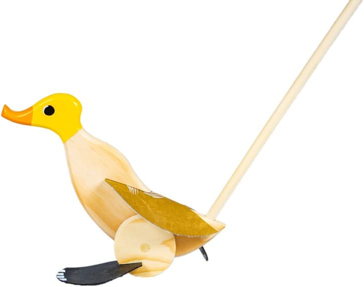 Wooden Push wholesale Pull Activity Walking Japan Maker New Toy 1 Duck Yellow - Toddlers