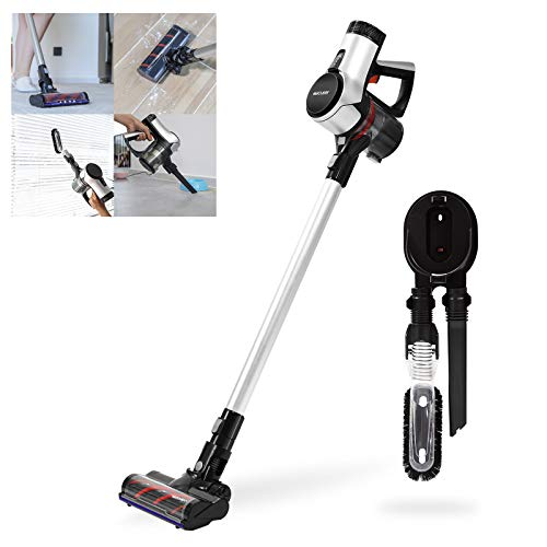 WECLEAN V4 Cordless Vacuum Cleaner with LED Headlights, Powerful Suction Brushless Motor Built-in Battery Lightweight Stick Vacuum Cleaner with Wall Mount for Home/Hard Floor/Carpet/Pet