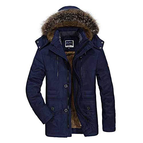 Heren katoenen pak Winter Heren Plus Fluweel Dikke Grote Maat Medium Lange Jas