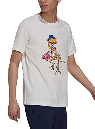 adidas Originals Herren T-Shirt 5 Dino Tee H13478 Beige, Größe:S