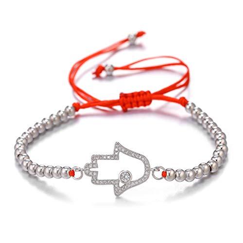 Gold/rose Gold Adjustable Chains Bracelets Greek Evil Eye Of Fatima Hamsa Hand Bracelets For Women Men 24.5cm