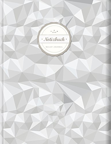 "BULLET JOURNAL (©Star, A4, 156 Seiten, Softcover)    Mit Register    XXL Punktraster Notizbuch, Tagebuch, Gepunktete Seiten, Dot Grid Notebook, ""3D Diamanten"""