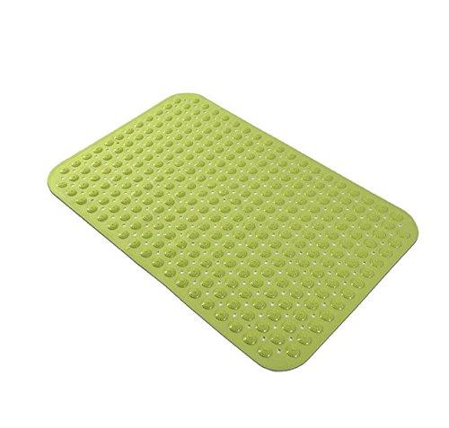 Tapis antidérapant Tapis de Porte de ménage WC pour Enfants Tapis de Sol en PVC Baignoire Salle de Bain Salle de Bain Tapis de Bain 58 * 88 (Couleur : Green)
