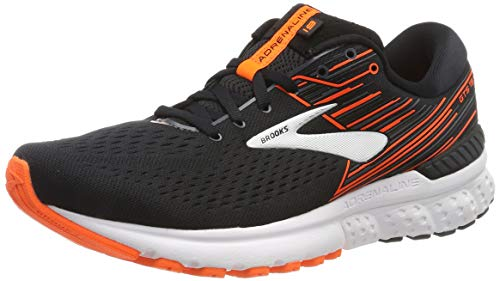 Brooks Herren Adrenaline Gts 19 Laufschuhe, Schwarz (Black/Orange/Silver 092), 44.5 EU
