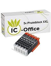 5 cartridges voor Canon CLI581 zwart XXL Pixma printer TS8100 TS8150 TS8151 TS8152 TS9100 TS9150 TS9155 TR7500 TR7550 TR8500 TR8550 TS6150 TS6150 TS60 151 TS. 6250 TS6350 PGI-580 CLI-581