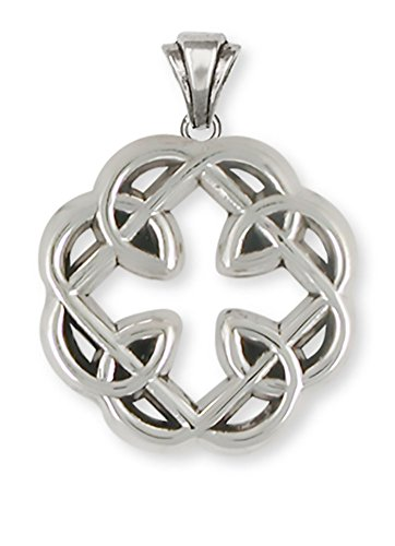 Celtic Knot Father and Daughter Cross Jewelry Sterling Silver Celtic Knot Father and Daughter Cross Pendant Handmade Celtic Jewelry MFC1-P