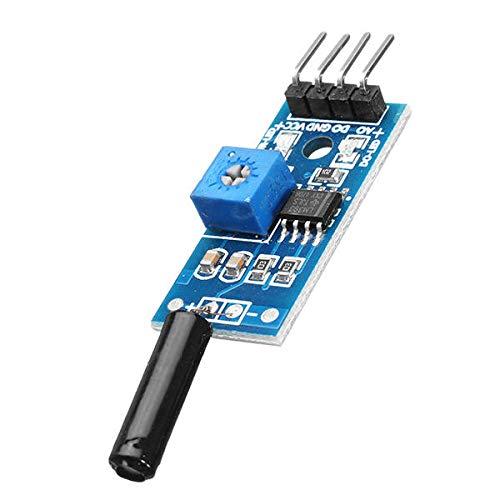 Modulo electronico Módulo de alarma del interruptor de vibración del módulo de vibración de 3.3-5V de 3 hilos para 10pcs