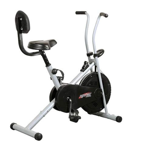 Kidsmall 1001 Fixed Handle Body Gym Exercise Cycle for Weight Loss at Home (Air Bike 1001 with Back...