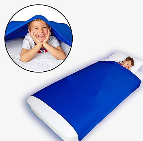 Sensory Scout Compression Blanket for Kids & Adults, Queen Bed, Deep Therapeutic Pressure for Sleep, Lightweight and Stretchy Breathable Fabric, Weighted Blanket Alternative
