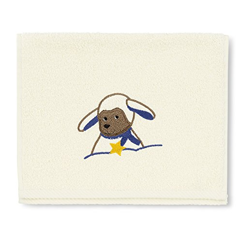 Sterntaler Serviette pour enfants Stanley, Âge: à partir de 0 Mois, 30 x 50 cm, Crème