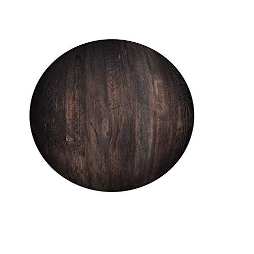 Fansu Manteles de Mesa Redonda de Tela, Impermeable Antimanchas Comedor 3D Madera Patrón Decorar Manteles para Cocina/Cena/Picnic Decoración (Negro Madera,200cm)