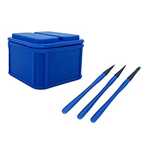 Silicone Glue Keeper, Glue Storage Box Woodworking Fresh-Keeping Storage Box with 3 Brush Glue Pen, Craft Tackle Organizer Storage Containers Box Wood Glue Up Container