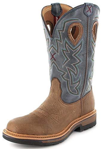Twisted X Boots Herren Cowboy Stiefel 1767 Lite Cowboy Work Lederstiefel Westernreitstiefel Braun 42 EU