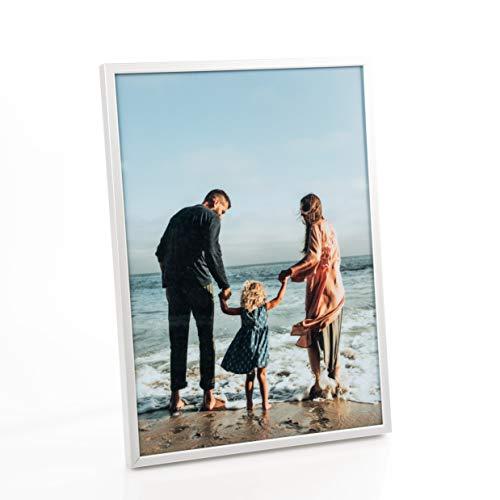 Victoria Collection Bilderrahmen - Moderner Aluminium-Rahmen für Bilder & Dokumente in A4-Größe - Ideal für Zuhause & Büro - Echtes Glas - Das perfekte Geschenk zu Geburtstag & Weihnachten