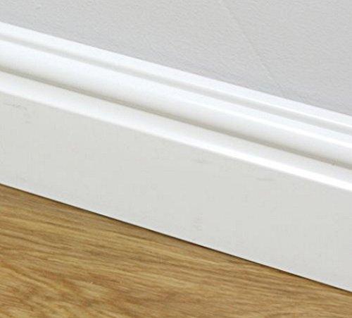 95mm Plastic Skirting Board - Ogee/Torus Architrave Trim -...