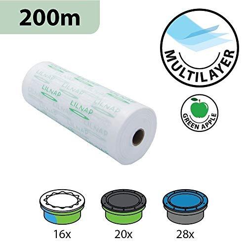 200m Universal Nachfüllfolie für Sangenic Windeltwister Tommee Tippee & TEC, Angelcare und Litter Locker | EVOH - Beschichtung zur Geruchsminderung