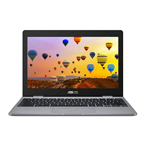 ASUS Chromebook C223NA 11.6' HD Laptop (Intel Celeron N3350, 4GB RAM, 32G eMMC, Chrome OS), Red (Renewed)