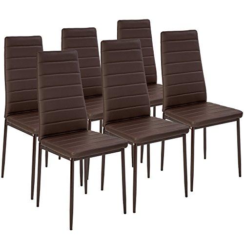 TecTake Set de sillas de Comedor 41x45x98,5cm cantidades - (6X Marrón...