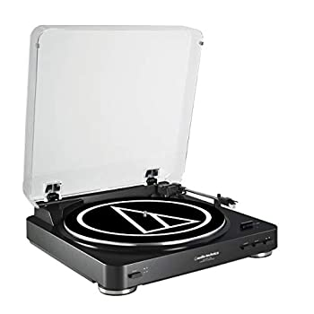 Audio-Technica AT-LP60BK-USB Fully Automatic Belt-Drive Stereo Turntable  USB & Analog  Black