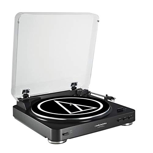 Audio-Technica AT-LP60BK-USB Fully Automatic Belt-Drive Stereo Turntable (USB & Analog), Black