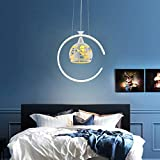 TYXL Chandelier La Forma Creativa Minimalista Moderna de la Tierra llevó la lámpara, la lámpara de la Moda del Restaurante Bar de la Sala de Estar 锛 孋 Que Contiene Fuente de luz
