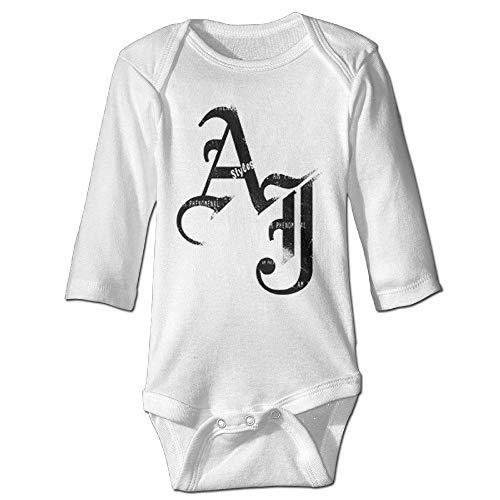 Baby OneSize AJ Styles 2016 Schwarz Logo Baby Kleidung Lustige Onesizes Größe 18M