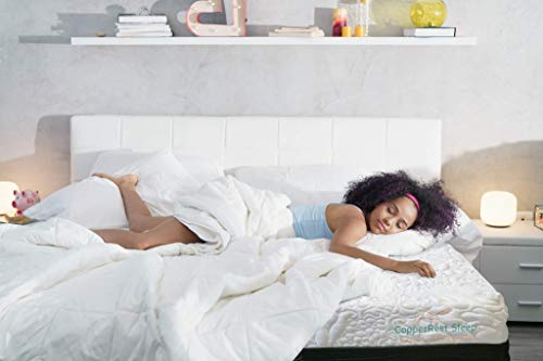 Firm Queen Memory Foam Mattress, CopperRest Sleep 9' Copper/Gel Infused Latex Bed in a Box, 15 Year Warranty and 60 Night