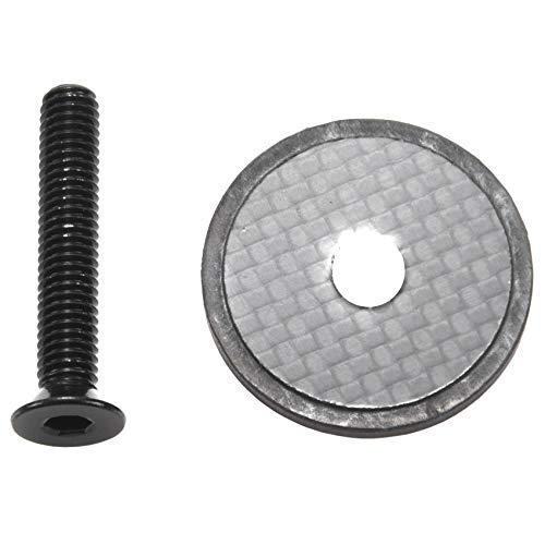 Gesh Tapa superior de fibra de carbono para auriculares de bicicleta 3K súper ligera con tornillo para horquilla de dirección de 28,6 mm
