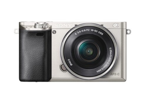 Sony Alpha 6000 Systeemcamera (24 megapixels, 7,6 cm (3 inch) LCD-display, Exmor APS-C sensor, Full-HD, High Speed Hybrid AF), Inclusief: Lens (16-50 mm), zilver, 7,5 cm