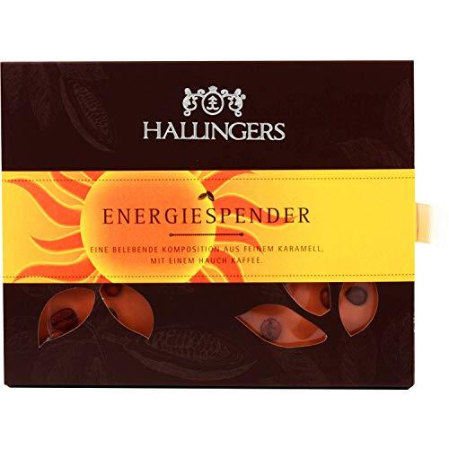 Hallingers Weiße Schokolade mit Kaffee hand-geschöpft (90g) - Energiespender (Tafel-Karton) - zu Passt immer