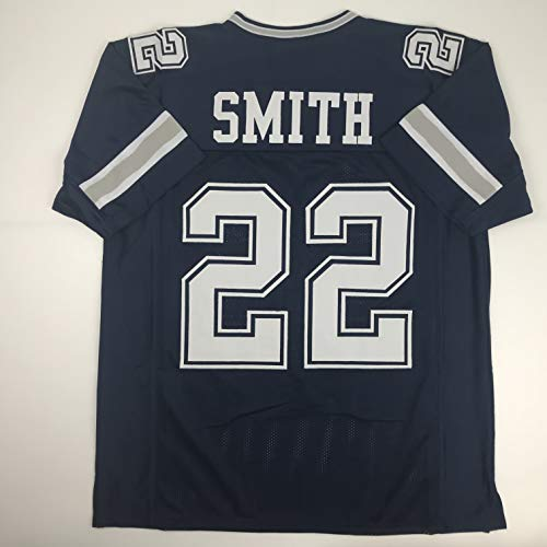 Unsigned Emmitt Smith Dallas Dark Blue Custom Stitched Football Jersey Size Men's XL New No Brands/Logos