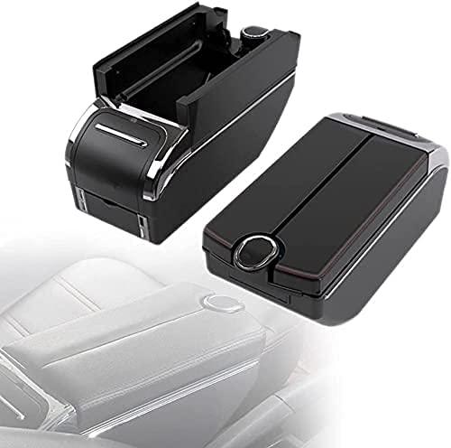 Bracciolo Auto per Ford Fiesta Mk7 St 2009-2014, Protezione Scatola Braccioli Centrale Copertura Scatola di Immagazzinaggio Auto Accessori