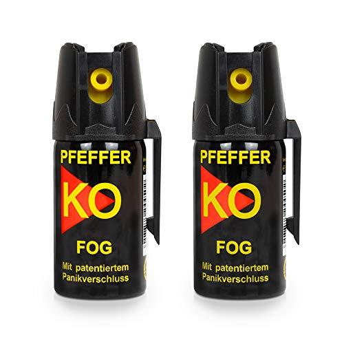 Pfefferspray KO Fog Hundeabwehr Verteidigungsspray 40ml Abwehrspray Pepper Defender (KO Fog 40 ML 2er Set)