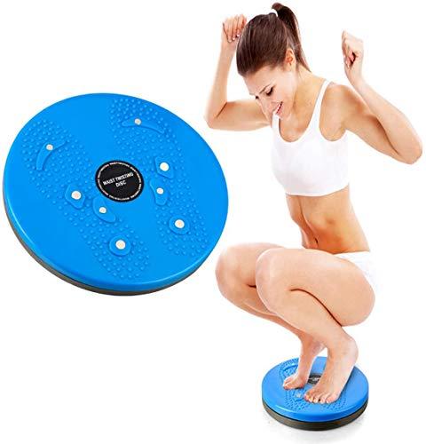 GDZFY Nicht-Slip Plattenspieler Fuß Massageplatte Pedal-Übungsleiter Für Passen Taille Neaufgabe,Passenness Twist Board,Taille Ndscheibe Trainer Board Blau