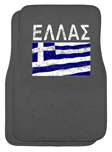 SPIRITSHIRTSHOP Griechenland - Fahne, Flagge, Griechisch, Grieche, Griechin, Hellas, Hellenen, Athen - Automatten -Einheitsgröße-Mausgrau