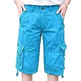Luandge Pantalones Cargo con Corte de Bota cómodo para Mujer para Entrenamiento de Gimnasio, Deportes, Funcionamiento, Resistencia atlética, Pantalones Cortos de Moda con Bolsillos 36