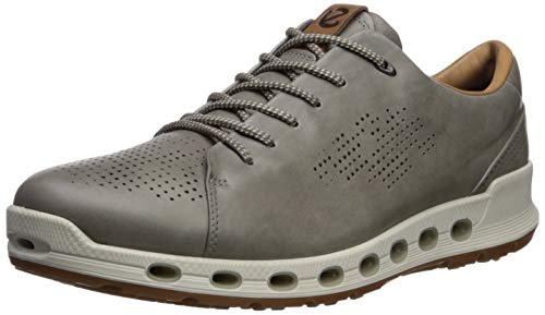 ECCO Men's Cool 2.0 Leather Gore-TEX Sneaker, Warm Grey Retro, 47 M EU (13-13.5 US)