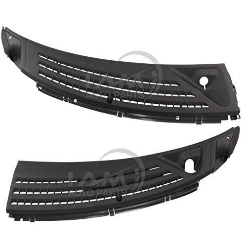 IAMAUTO 91939 Wiper Cowl Grille Panel Left & Right Set for 2004 2005 2006 2007 2008 Ford F150 (Includes Retainers, Washer Nozzles, and Hoses)