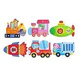Toyvian Puzzles de Madera Juegos de Rompecabezas para Coches Juguete Educativo para niños pequeños Bebés (Automóvil)